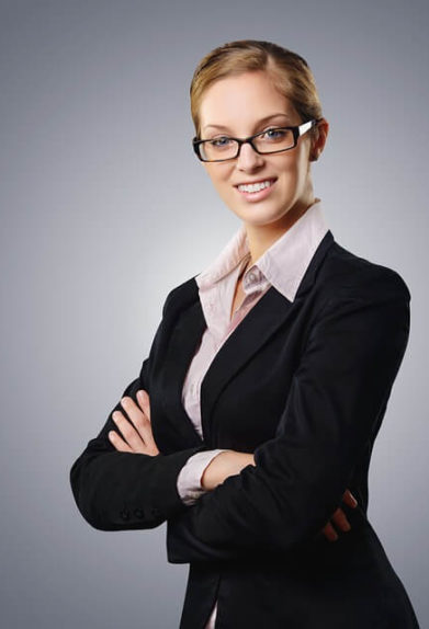 business woman white mandarin