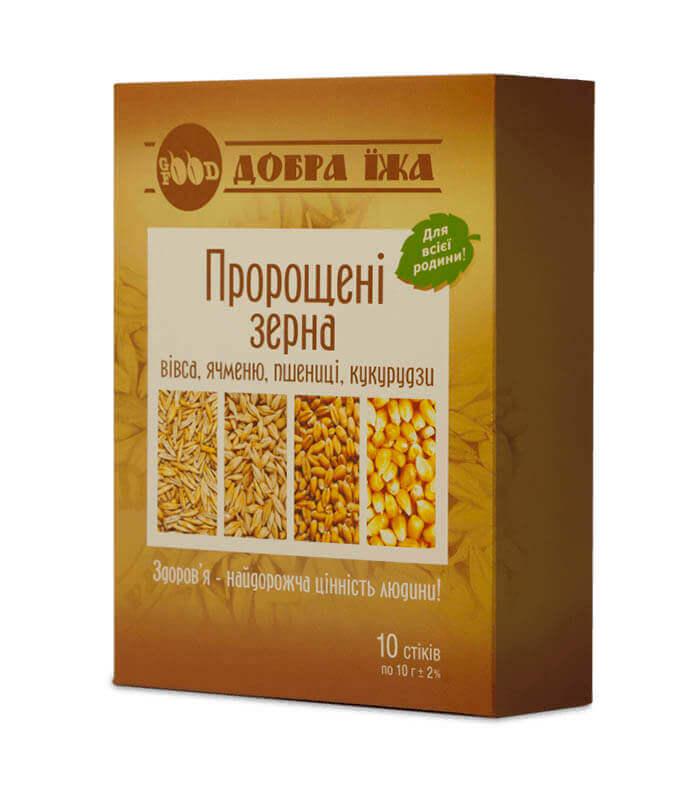 Пророщені зерна коробка зі стіками