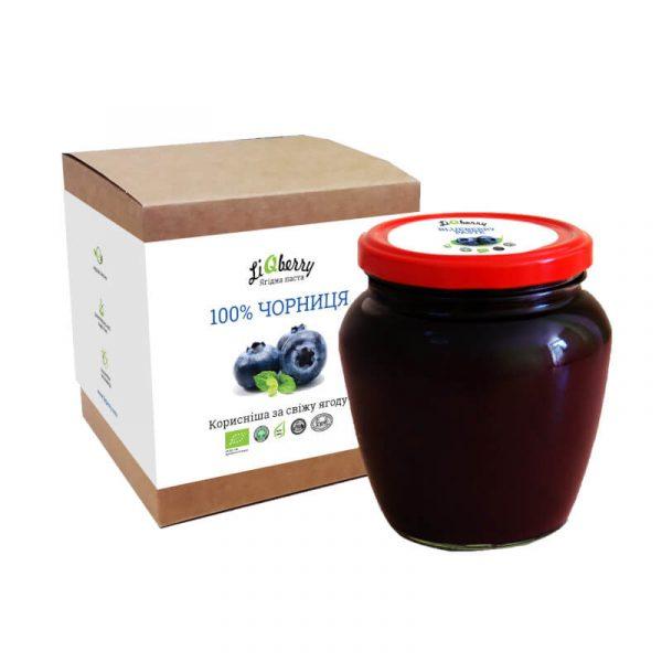 Органическая паста из черники Liqberry 550 г